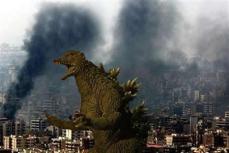 Jew-Zilla attacks Beirut!